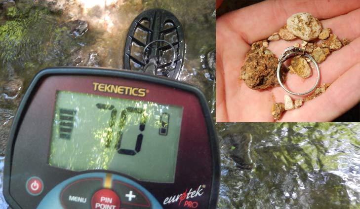 bague detecteur rivière Teknetics eurotek PRO